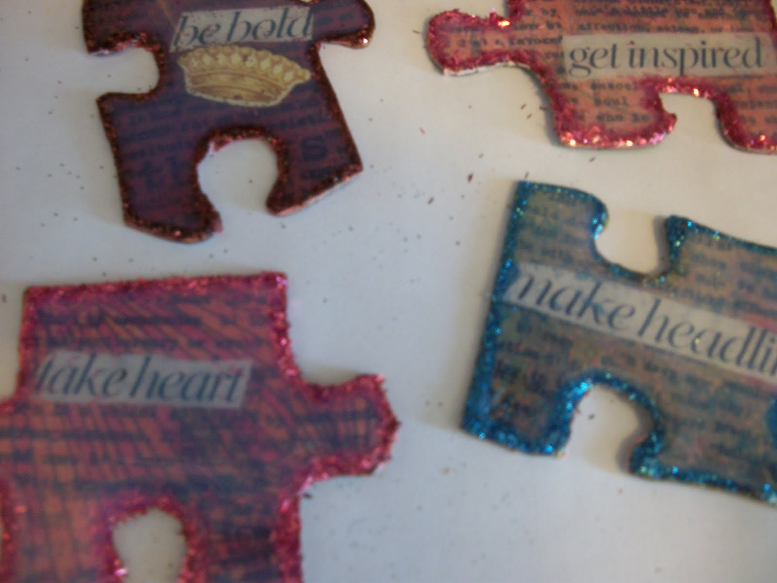 Day 121: Make Upcycled Puzzle Piece Jewelry | Confessions of a